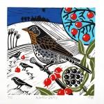 KateHeiss_WinterVisitor-FieldfareBird_WychwoodArt