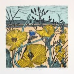 KateHeiss_YellowHornedPoppy-linocut_limitededition_original_art_WychwoodArt