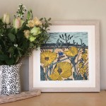 Kateheiss_YellowHornedPoppy-Lifestyle_poppy_linocut_print_original_WychwoodArt