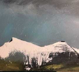 Maggie-banks-painting-First-Snow-On-Pen-Y-Fan-Acrylic-Full-Image