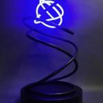 Mark Beattie | Blue Neon | abstract neon sculpture_2