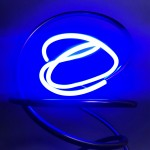 Mark Beattie | Blue Neon | abstract neon sculpture_4