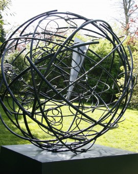 Mark Beattie | Global Odyssey | abstract garden sculpture_1_Wychwood Art