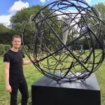Mark Beattie | Global Odyssey | abstract garden sculpture_6_Wychwood Art