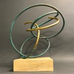 Mark Beattie | Gold Leaf in Verdigris I | abstract sculpture_1