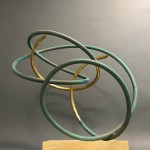 Mark Beattie | Gold Leaf in Verdigris I | abstract sculpture_2
