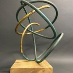 Mark Beattie | Gold Leaf in Verdigris I | abstract sculpture_3