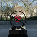 Mark Beattie | Red Neon Orb | abstract neon sculpture_1