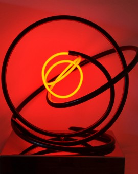 Mark Beattie | Red Neon Orb | abstract neon sculpture_2