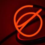 Mark Beattie | Red Neon Orb | abstract neon sculpture_3