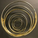 Mark Beattie | River of Gold small | abstract wall sculpture_1_Wychwood Art