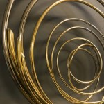 Mark Beattie | River of Gold small | abstract wall sculpture_2detail_Wychwood Art