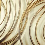 Mark Beattie | River of Gold small | abstract wall sculpture_detail 2_Wychwood Art