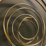 Mark Beattie | River of Gold small | abstract wall sculpture_detail_Wychwood Art