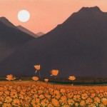 Phil-Greenwood-Art-Turner-Barnes-Gallery-Marigold-Mountain-Etching-1-877×700
