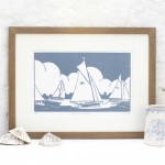 Sailing+on+the+Broads-Fiona carver-Limited Edition-Linocut print-Wychwood art