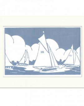 Sailing+on+the+Broads-Fiona carver-Limited Edition-Linocut print-Wychwood art 2