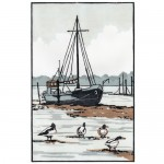 Shelducks+Suffolk+Mounted-Fiona carver-Linocut print-limited edition print-WYCHWOOD ART 2