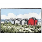 Suffolk Beach Huts - Fiona Carver - Limited edition print - Linocut Print - Wychood art 3