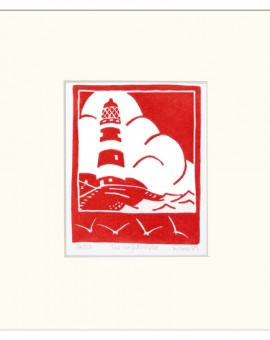 The+Lighthouse-Fiona Carver - Limited Edition Print- Linocut print - Wychwood art 2