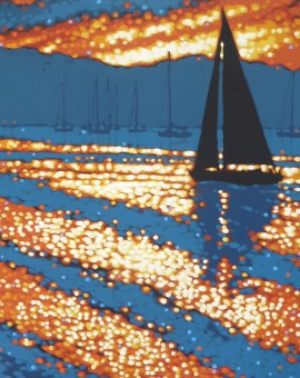 gordon hunt_sunset sailing_wychwood art