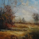 Beyond the trees 80x80cm-Claire WIltshire-Original Oil painting-Unframed