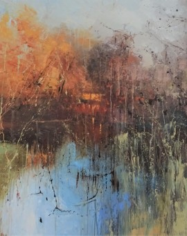 Ethereal light 3 80x80cm-Claire Wiltshire-Original Oil painting-Unframed