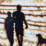 Gordan Hunt-The Evening walk-Throw it!-Original Art-Acrylic 4