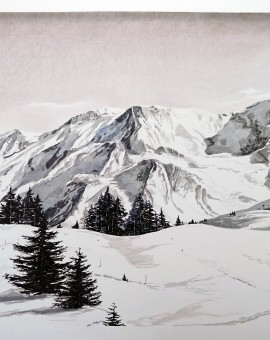 Sam Gare.Chamonix.150x100cm reduced