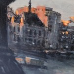 Alex Rennie, Sundown on Southbank, Original Oil Painting, London Art, Cityscape Painting 3
