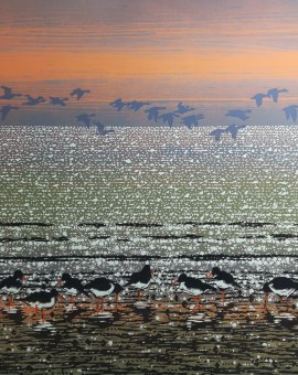 Ref-408-Oyster-Catchers-with-Geese
