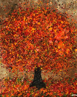 Nicky Chubb | A Happy Autumn | Tree Painting