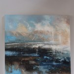Claire Wiltsher, Magnitude III, Original Abstract Painting, Contemporary Landscape Painting
