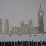David Wheeler, Battersea Power Station, Original Oil Painting, Cityscape Art 4