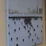 David Wheeler, Battersea Power Station, Original Oil Painting, Cityscape Art 7