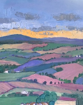 Eleanor Woolley | A view from the Costwold Escarpment | Expressionistic | Landscape