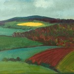 Eleanor Woolley | Distant yellow field | Expressionistic | Landscape
