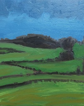 Eleanor Woolley | Green fields blue sky | Expressionistic | Landscape copy