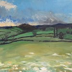 Eleanor Woolley | Over the fields | Expressionistic | Landscape