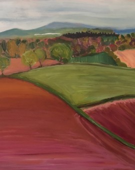 Eleanor Woolley | Ploughed fields | Landscape | Expressionistic
