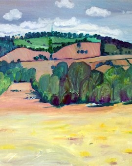 Eleanor Woolley | View from Maugersbury | Landscape | Impressionistic