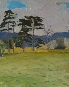Eleanor Woolley | Walking out from Highnam | Landscape | Expressionistic