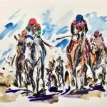 Garth Bayley. Galloping by