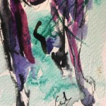 Garth Bayley. Horse racing art.1.signature