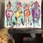 Garth Bayley. Horse racing art.1.studio