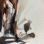 Garth Bayley. horse racing art.2.signature