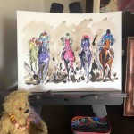 Garth Bayley.Horse racing art.2.studio