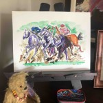 Garth Bayley.Horse racing art.3.studio