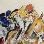 Garth Bayley.Horse racing art.4.close up
