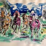 Garth Bayley.Horse racing art.5